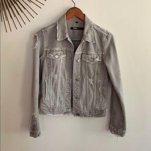 J Brand Pale Ash Slim Denim Jacket
